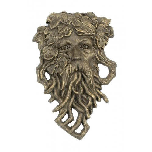 Cast Iron Hanging Bearded Leaf Man Garden - Asian Male Faces