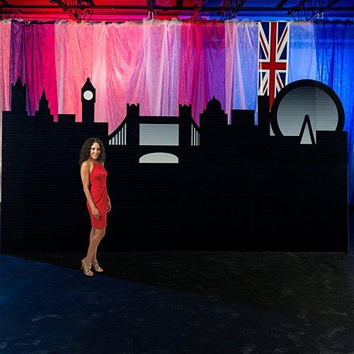 Shindigz 7 ft. 8 in. London Skyline Silhouette