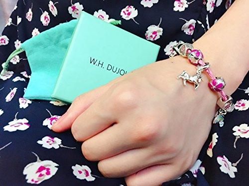 Pink Unicorn Birthday Charm Bracelet Jewelry Gifts for Girls (6.5) by Doctor Unicorn (Image #3)
