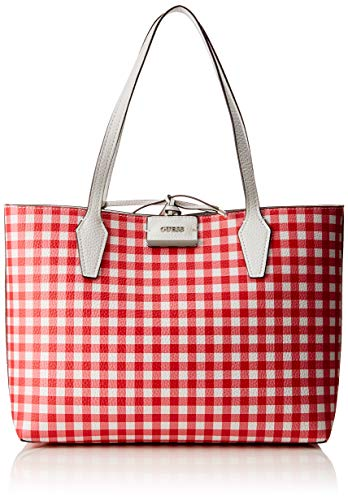 Guess Totes Mujer Bolsos Multicolor white checker Bobbi raqrOxAg