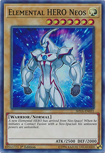 Yu-Gi-Oh! - Elemental HERO Neos - SHVA-EN031 - Super Rare - 1st Edition - Shadows In Valhalla