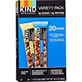 KIND Nuts and Spices 20 Bar Variety Pack, Salted Caramel/Dark Chocolate & Sea Salt/Dark Chocolate (10 Each)