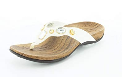 3dba6a8946612 Orthaheel Vionic With Orthaheel Technology Womens Eve Thong Sandal White  Wide Size 11 UK Size