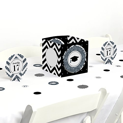 Silver Tassel Worth The Hassle - Graduation Party Centerpiece & Table Decorating Kit (Decorator Tassels)