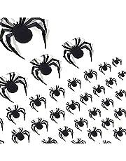 AJDSK Set van 60 stuks 3D-spin, muurstickers, pvc, zwart, terrorspin, thuis, wanddecoratie 2021, verbeterde doe-het-zelf, Halloween, party, accessoires, deur, badkamer, raamstickers, set