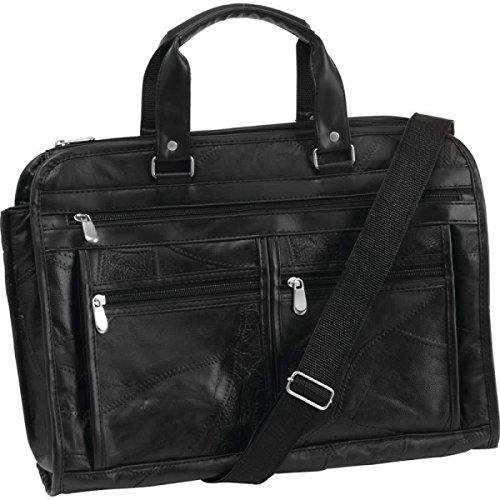 (Embassy Italian Stone Design Genuine Buffalo Leather Concealed Carry Briefcase by Maxam)