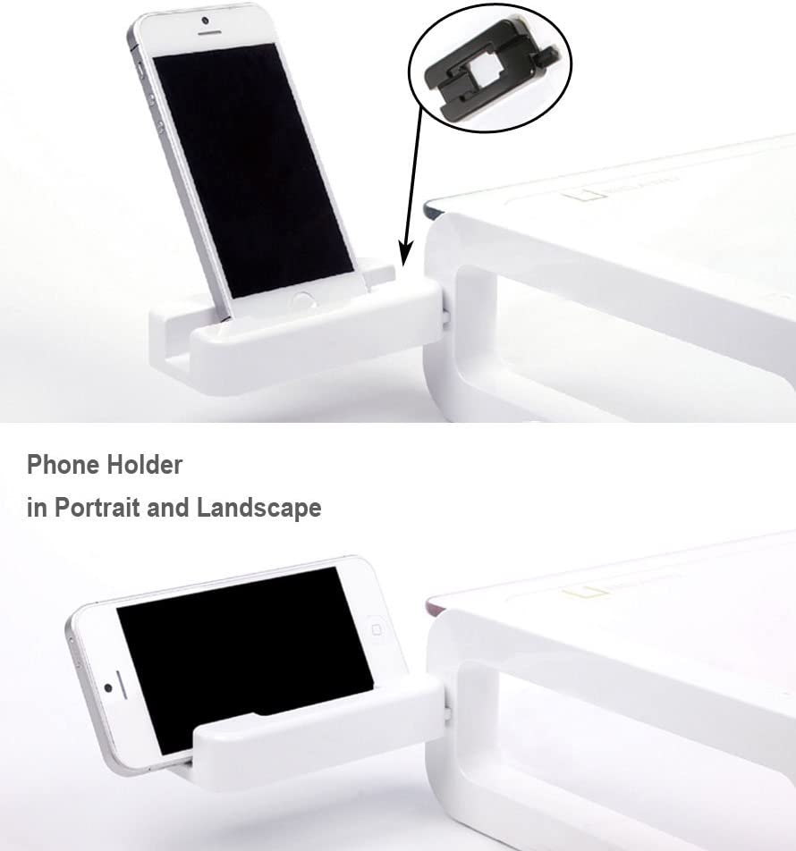 iMac and iPhone UBOARD BASIC White Tempered Glass Monitor Stand Shelf Multiboard for your PC