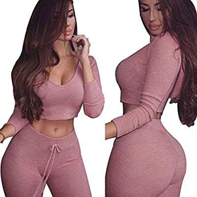 Elevin(TM)2017 Women Fashion Split 2 Piece Set Casual Bodycon Outfit Sportswear Activewear