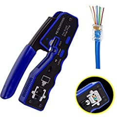 Our Features: 1.Fast, reliable modular crimp-connector install tool for Pass-Thru 8P RJ45 connector plugs,All-in-one design can make your cuts, strips and crimps work be done with only this tool. 2.Mini and Lighter Design --Compact design is ...