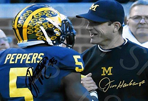 Wolverine Autograph - Jim Harbaugh Jabril Peppers Autograph Replica Poster Print - Michigan Wolverines
