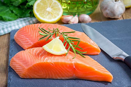 7 X 6 Oz. (2.63 Lb.) Premium Fresh Atlantic Salmon Portions, Individually Vacuum Packed, Ready to Cook.