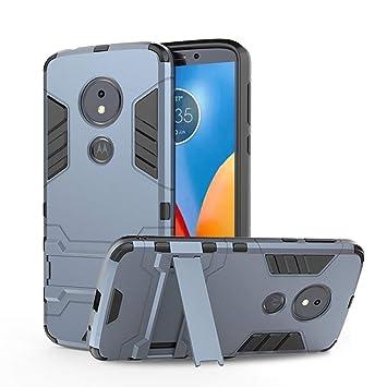 Funda Motorola Moto E5 / Moto G6 Play con Soporte, Silicona Carcasa Anti-Gota Parachoques Duro PC Resistente Armor Apoyo Función 2-in-1 DE la Serie ...