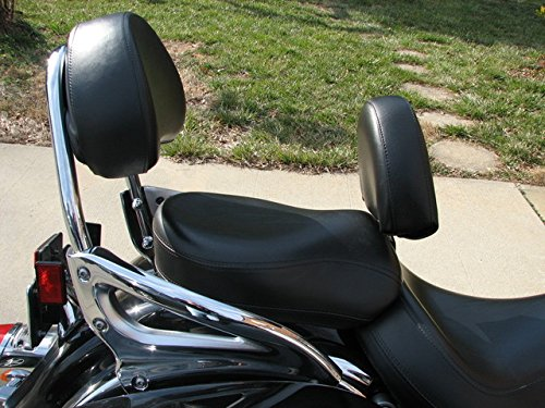 Grasshopper Limited Drivers Backrest for Kawasaki 1500 Nomad or Vulcan American Made NON STUDDED Complete System Quick Release