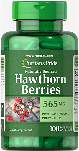 Puritan's Pride Hawthorn Berries 565 mg-100 Capsules (Berry Leaf Hawthorn)