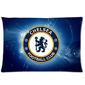 UEFA Chelsea Football Club Logo Custom Design Pillowcase Pillow Sham Queen Size Pillow Cushion Case Cover Two Sides Printed 20x30 Inches by ruishername