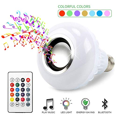 Lamp Audio - BSOD LED RGB Color Bulb Light E27 Bluetooth Control Smart Music Audio Speaker Lamps