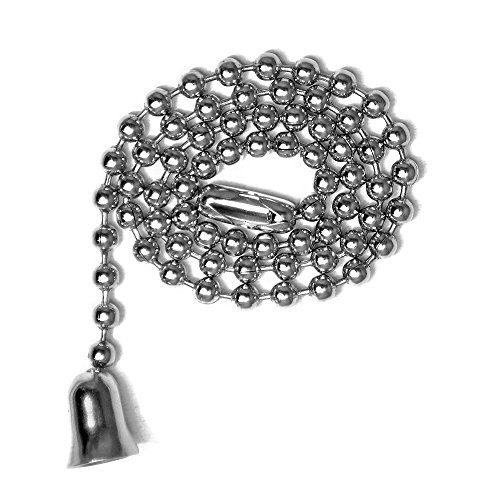 (12 Inch Length Ball Chains, #6 Size, Nickel Plated Brass with Matching Pendants and Connectors (3 Pack))