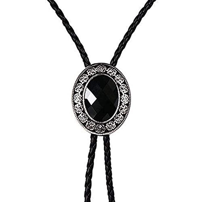 6e926b350d06 Image Unavailable. Image not available for. Color: Bolo tie for men,Black  Native American western cowboy ...