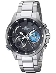 Casio Mens Edifice Connected Quartz Stainless Steel Casual Watch, Color:Silver-Toned (Model: EQB-600D-1A2CF)