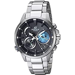 Casio Men's 'Edifice Connected' Quartz Stainless Steel Casual Watch, Color:Silver-Toned (Model: EQB-600D-1A2CF)