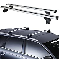 Aluminum Roof Rack Cross Bar Top Rail Luggage Cargo Carrier With Lock For SUV Amazon#