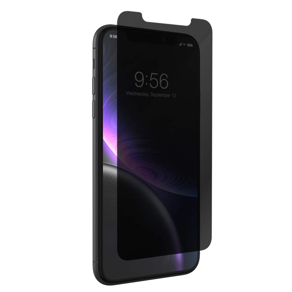 ZAGG InvisibleShield Glass+ Privacy Screen Protector for Apple iPhone XR  - 3X Impact Protection by ZAGG
