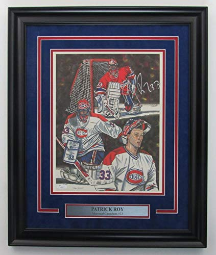 Patrick Roy Montreal Canadiens Signed/Framed 11x14 Litho Color Print JSA 141829