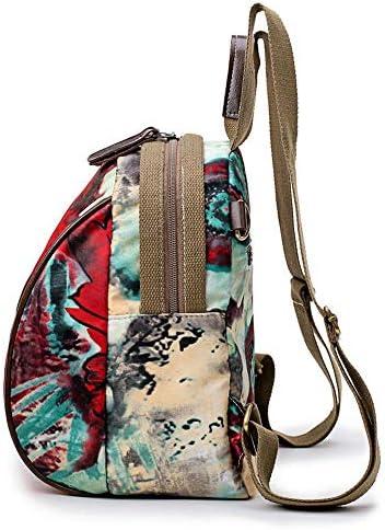 女性ナイロンフラワーパターンナショナルスタイルのハンドバッグショルダーバッグバックパック YZUEYT