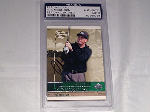 Phil Mickelson Masters Rookie 2002 Upper Deck Signed Slabbed Card - PSA/DNA Certified - Autographed Golf (Masters Golf Card)