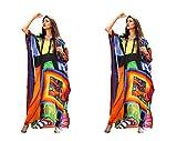 New printed kaftan designer silk crystal embellished long dress 139
