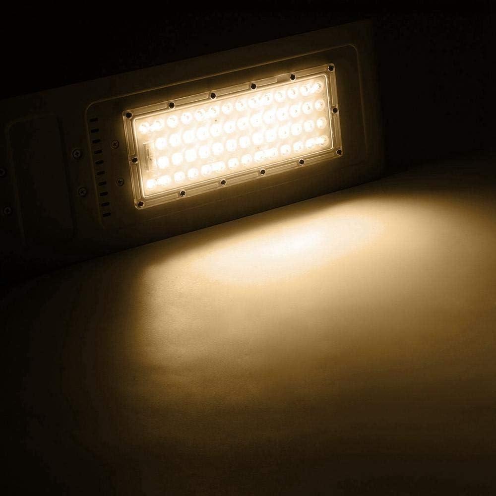 屋外ライト, 54 LED 60Wストリート・ロードライト防水屋外庭アルミランプ投光器AC 100-240V (色 : 暖かい白)