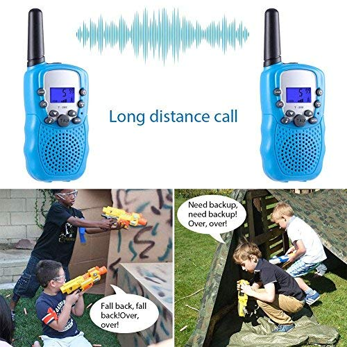 ISCOOL Walkie Talkies for Kids Long Range Two Way Radio Kids Walkie Talkies 22 Channel Outdoor Toys for Girls and Boys(2 PCS ,Blue by iscool (Image #5)