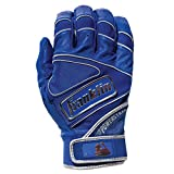 Franklin Sports Chrome Powerstrap Batting Gloves - Royal - Adult XX-Large