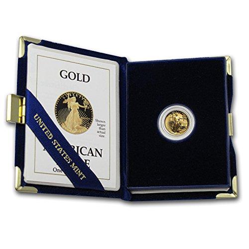 (1986 - Present 1/10 oz Proof Gold American Eagle (Random Year, w/Box & COA) Gold Brilliant Uncirculated)
