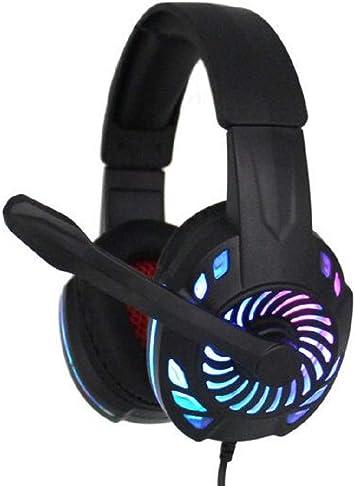 Auriculares de Diadema para Videojuegos con cancelación de Ruido y Auriculares con luz LED, Compatible con PC, PS4, Mando Xbox One (Adaptador Necesario): Amazon.es: Electrónica