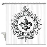 Shower Curtain Company Vintage French Fleur de lis Shower Curtain - Standard White