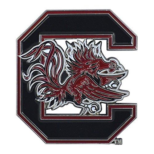(Fanmats University of South Carolina Color Chrome Car Emblem)