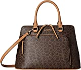 Calvin Klein Women's Monogram Satchel Brown/Khaki One Size