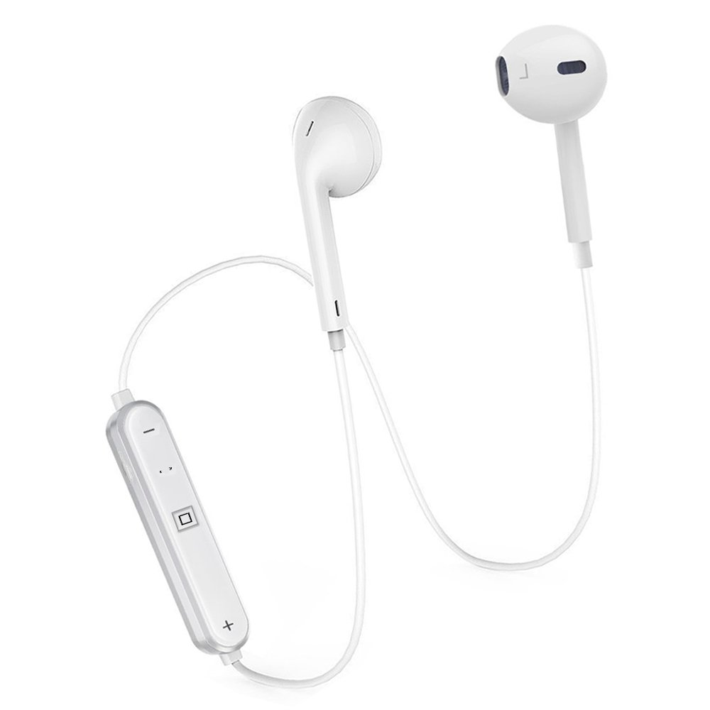 Wireless Headphones, Bluetooth Headphones, Bluetooth 4.1 Earbuds Sport Stereo Headset, Noise Cancelling Sweat Proof Earphones,CVC Noise Cancellation,Workout Headset with Built-in Mic and Carry Pouch