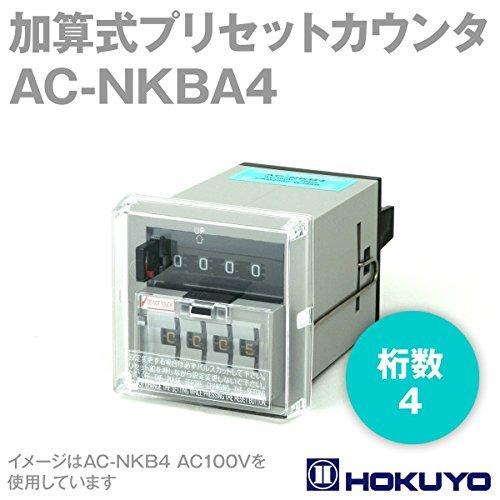 北陽電機 AC-NKBA4 AC200V 加算式プリセットカウンタ (電磁/手動リセット) (4桁) (パネル取付) NN   B00KRZ1W64