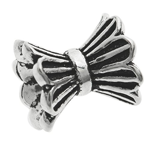 - Dreambell 1 pc Antique 925 Sterling Silver Bali Flower Leaf Pear Cap Tube Spacer Bead