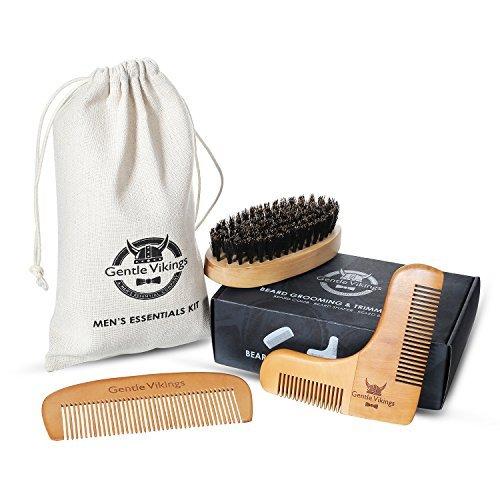Gentle Vikings Beard Shaping Tool with Beard Comb & Beard shaper & Mustache Brush