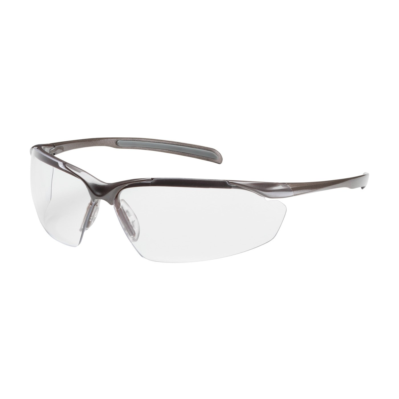 Commander 250-33-1020 Semi-Rimless Safety Glasses with Gloss Bronze Frame, Clear Lens and Anti-Scratch/Fogless Coating by Unknown