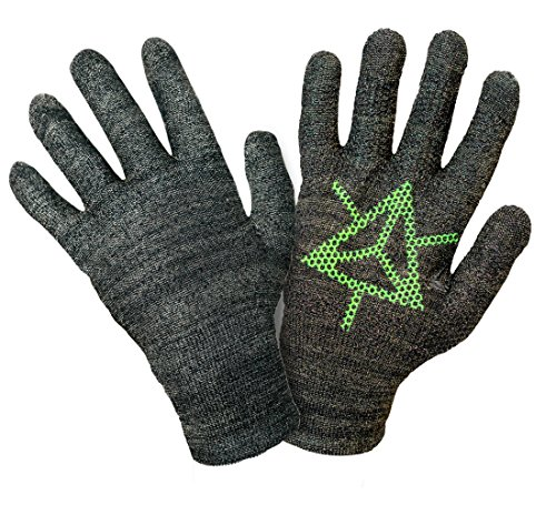 Ingress Edition, Touch Screen Gloves, Faction Enlightened - Entire Surface Works on iPhones, Androids, iPads, & Tablets - Anti Slip Palm for Geocaching Phone Grip - Maintain Dexterity - -