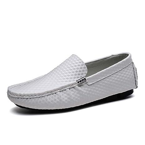 Hongjun-shoes, Mocasín de conducción para Hombres, Resistencia al Desgaste Suela de Goma