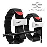 HEPHEAS Black Combat Tourniquet That Stops Bleeding from Life Threatening in Hunting and Hiking. (2pack)