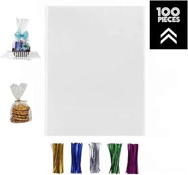 Amazon.com: 100 bolsas de celofán transparentes de 12 x 16 ...