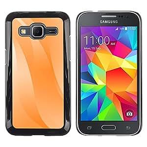 TopCaseStore / la caja del caucho duro de la cubierta de protección de la piel - Wavy Lines Orange Pastel White - Samsung Galaxy Core Prime SM-G360