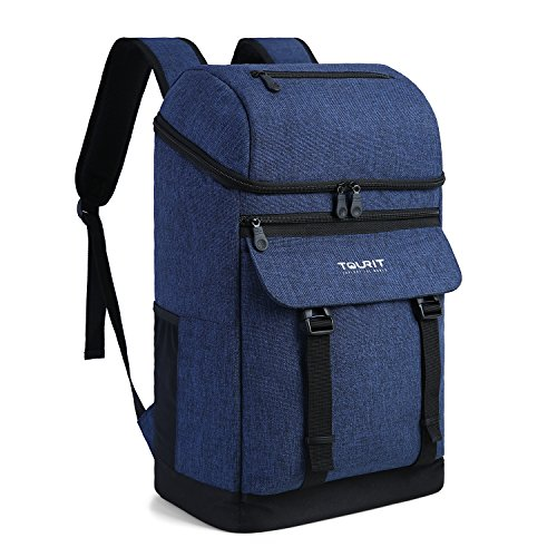 TOURIT Cooler Backpack Insulated Backpack Cooler Stylish Leak-Proof Lunch Backpack with Cooler Large Capacity for Men Women to Work, Picnics, Hiking, Camping, Beach, Park or Day Trip