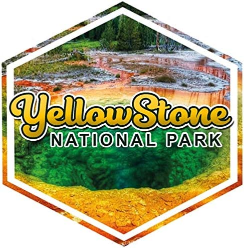 Vincit Veritas Yellowstone National Park Decal Sticker Car Rv Car Bumper US Travel Design S026